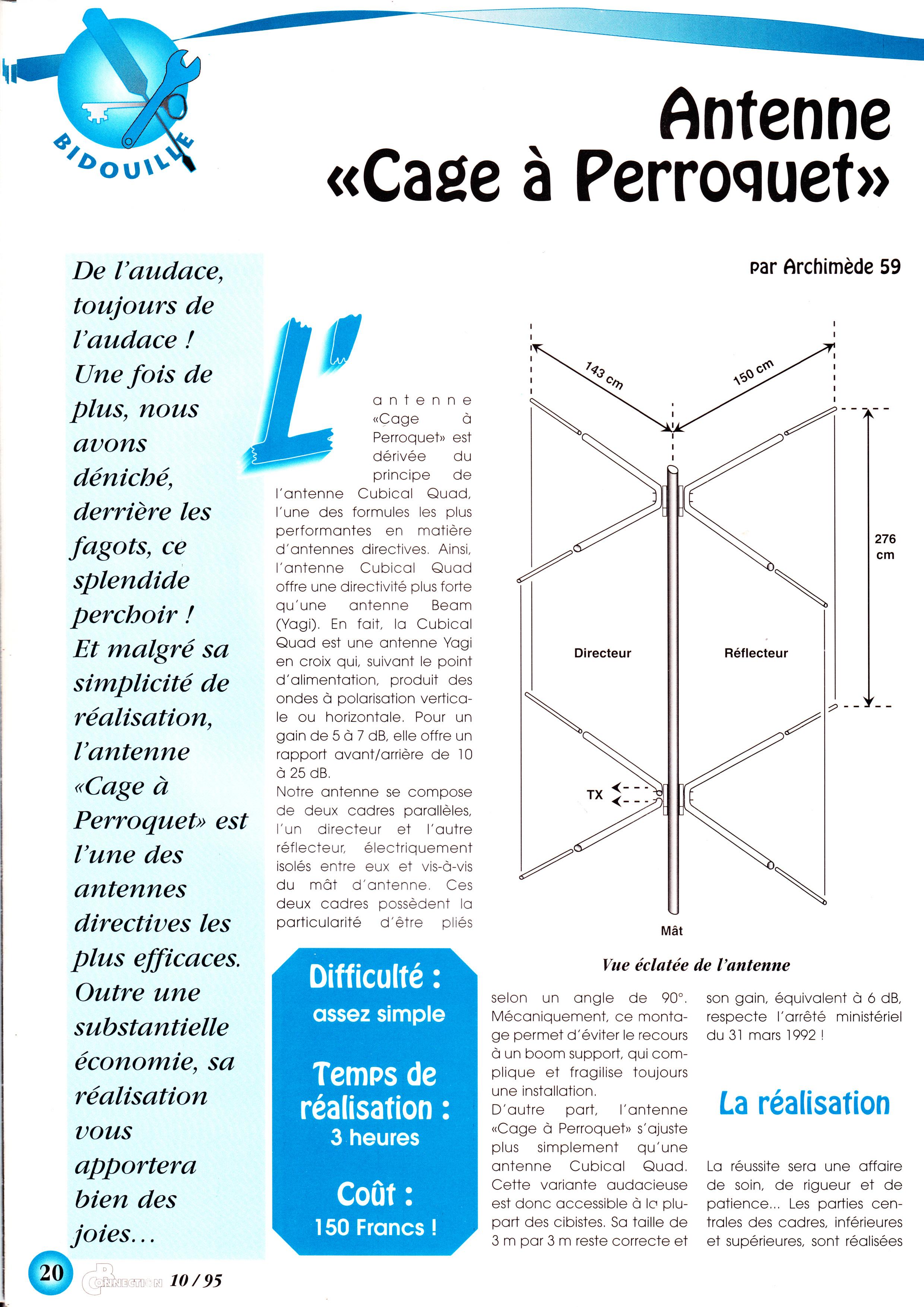 "Antenne ""Cage à perroquet"""