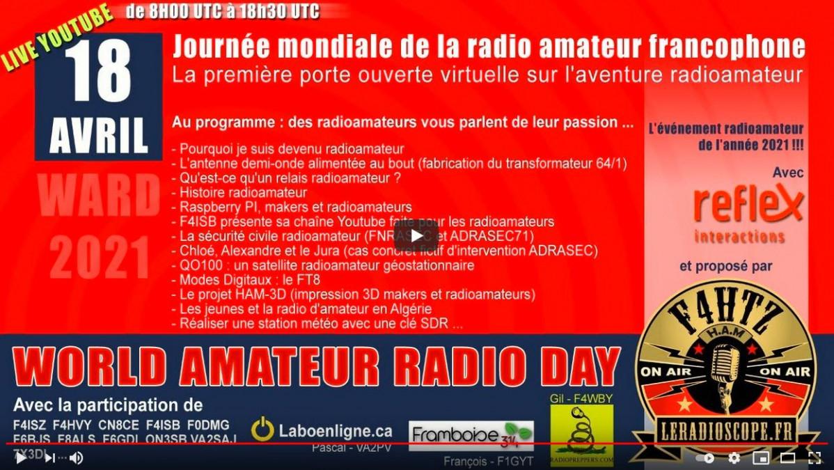 18/04/2021 Rediffusion de la journée mondiale radio amateur francophone